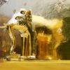 チェンマイ旧市街で最も格式高い寺院ワット・プラ・シンで黄金に輝く象