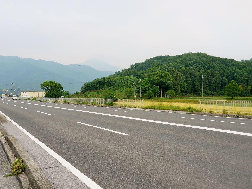 姉川古戦場跡、信長の陣地跡