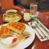 【大阪】なんば駅スグ!カフェ英國屋本社でワッフル付きモーニング